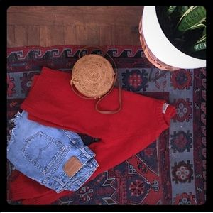 Men's Small - Vintage Red wool sweater